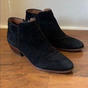 Sam Edelman Black suede booties